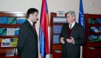 ames McDougal visited the Information Center on NATO in Yerevan
