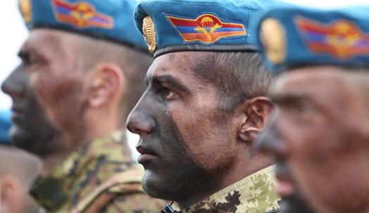 Armenian military servicemen take part in NATO exercises in eastern Bulgaria