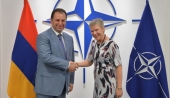 Vigen Sargsyan attends meetings with NATO officials